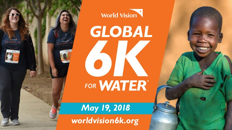 People walking in the Global 6K For Water event.