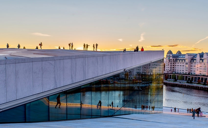 Opera house in Oslo.